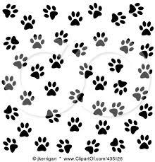dog paw wallpaper black